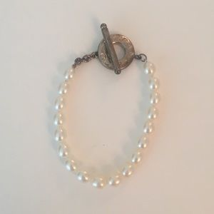 Tiffany sterling silver and pearl bracelet